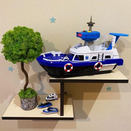 Корабль Полицейский катер со спусками Свет, звук