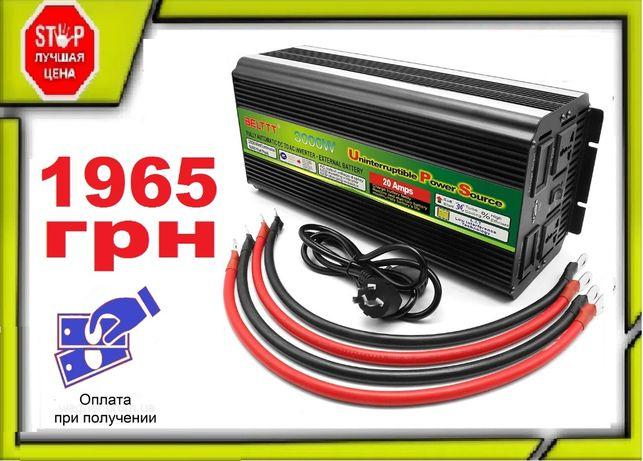Преобразователь 12v-220v 3000W + зарядка аккумулятора. Инвертор