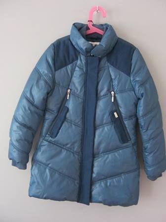 Kurtka zimowa dla dziewczynki Geox kolor morski - rozmiar 8 lat