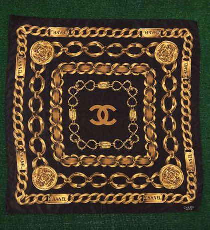 Шелковый платок, шарф Chanel Paris