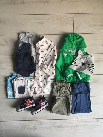 Paczka /Zestaw ubrań 68-74 cm dla chłopca w bardzo dobrym stanie