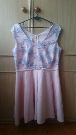 Sprzedam sukienkę w kolorze pudrowgo różu :)