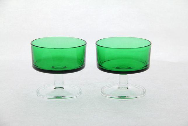 Zielone kieliszki kieliszek FRANCE szkło vintage