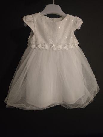 Sukienka do chrztu z opaską