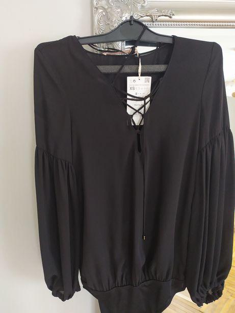Koszula body z wiazaniem Zara