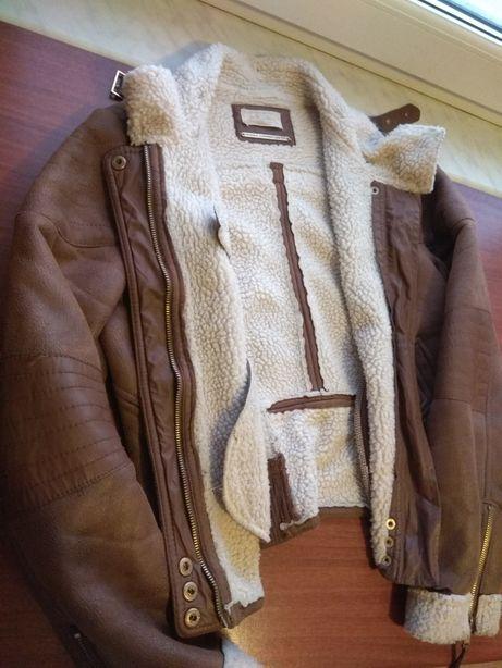 Kożuszek dla chłopca 8-9 lat m kurtka skóra miękka
