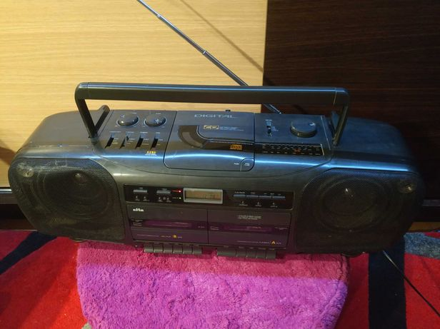 Radiomagnetofon,magnetofon,radio Eltra przenośny,kaseta, boombox