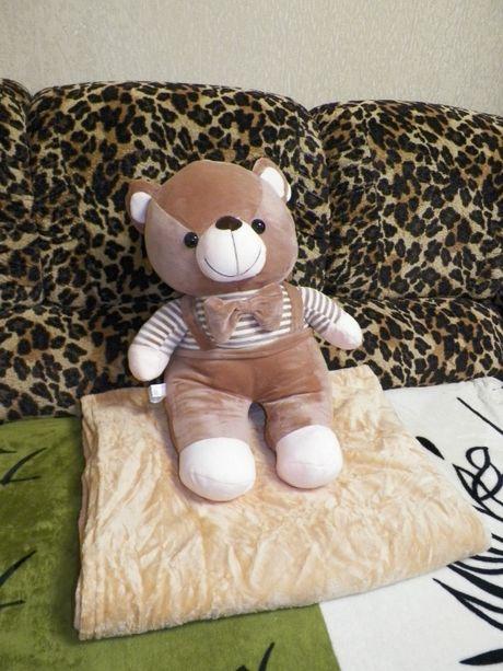 Игрушка Медведь, 3в1: Плед,Игрушка,Подушка