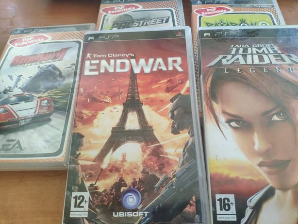 Gry na PSP - Patapon/Need for speed/Tom Clancy Endwar/Tomb Rider