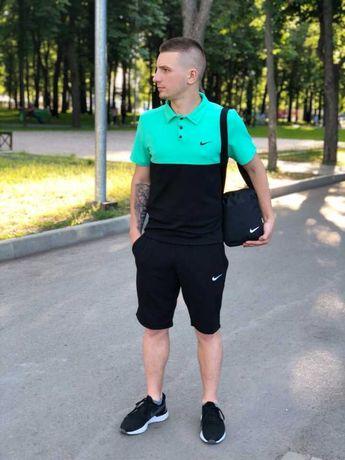 Комплект Футболка поло + Шорты Nike Спортивный костюм мужской летний