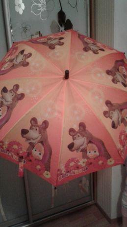 Детский зонт-трость Маша и медведь