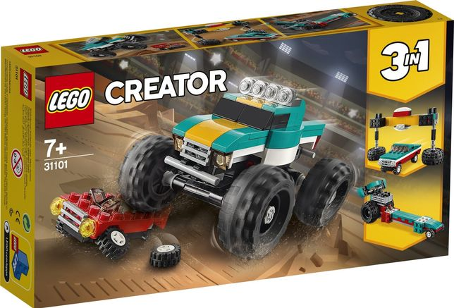 Lego Creator 31101 3w1 Monster Truck, Dragster, Muscle Car Wys24