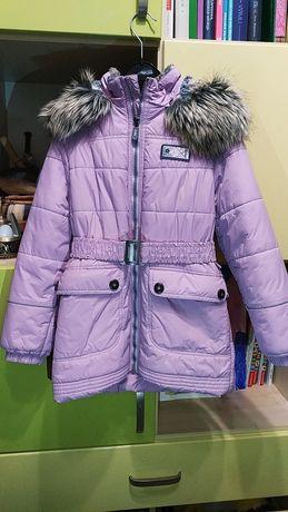 Пальто на девочку Lenne, рост 128 Светло-сиреневый