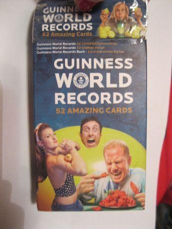 книга гиннесса карточки карты guinness world records 52 amazing cards