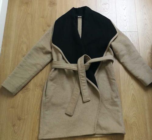 MANGO płaszcz wełna 38