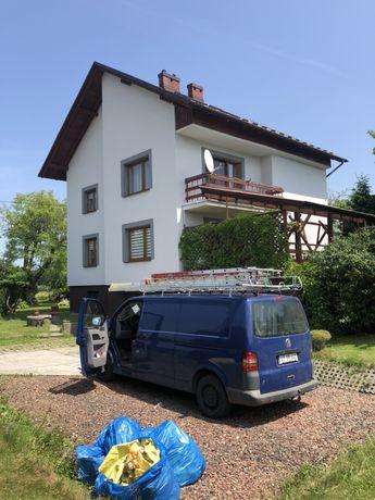 Malowanie Dachów i Elewacji, Malowanie Natryskowe dużych powierzchni