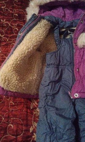 зимний теплый комбинезон с курточкой