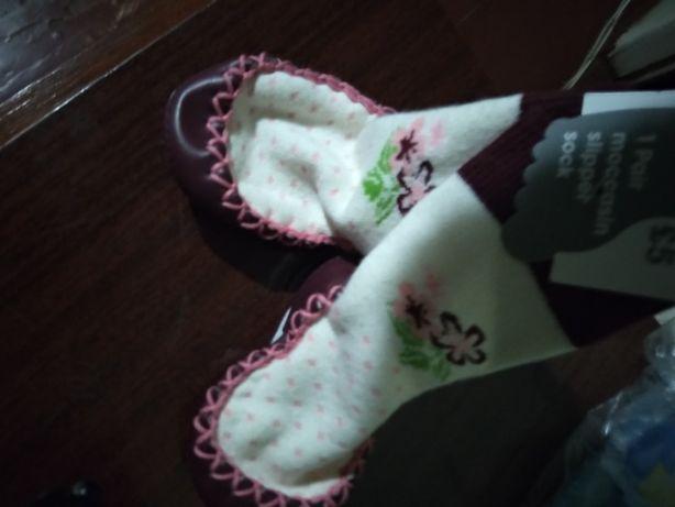 Носочки с подошвой