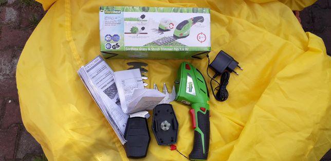 Nożyce ogrodowe elektryczne dwa noże sekator jak nowe