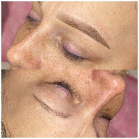 Makijaż permanentny brwi ombre