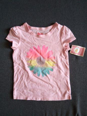 Летняя новая футболка на девочку 2-3-4 года