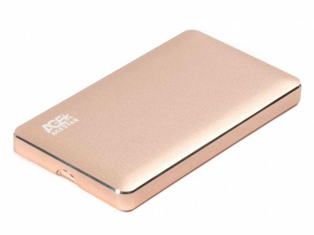"""Внешний карман для SSD/HDD 2.5"""" USB3.0 AgeStar 3UB 2A16 (Gold) SATA"""