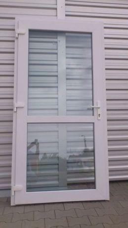 Drzwi Sklepowe Biurowe Zewnętrzne Wejściowe PCV 90 x 200