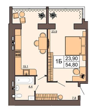 Квартира 54м2 в новобудові