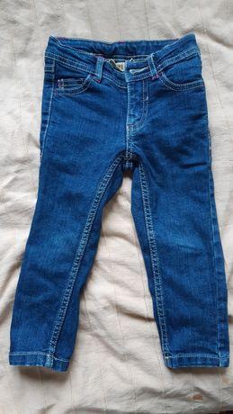 Nowe spodnie jeans dżinsowe dla dziewczynki 92