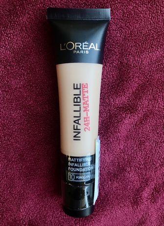 Тональный крем, матовый Лореаль (Loreal Infallible, тон-10)