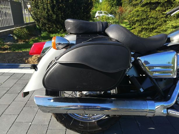 sakwy motocyklowe torby kufry na motor honda shadow 125 VT NOWE SKÓRA