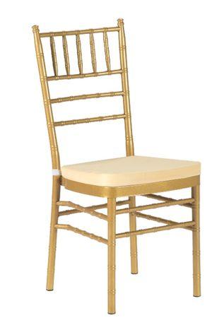 Krzesła ślubne weselne bankietowe Tiffany Chiavari - złote HIT