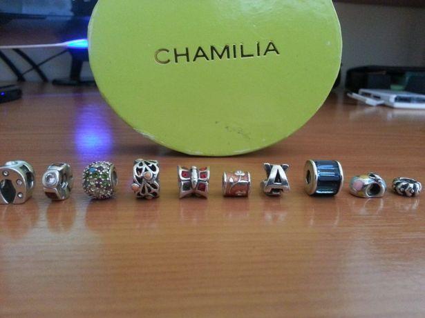 Contas em prata 925, marca Chamilia