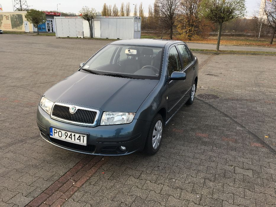 Skoda Fabia I Sedan 1.4 16v 75 KM Ambiente 2005r. Poznań - image 1