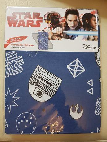 Prześcieradło gwiezdne wojny star Wars  Disney 90x200