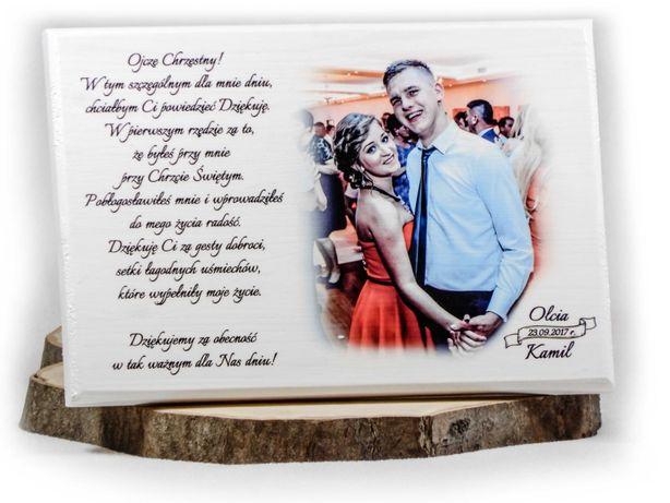 Podziękowania ślubne dla Rodziców na ślub NA DESCE zestaw podziękowań