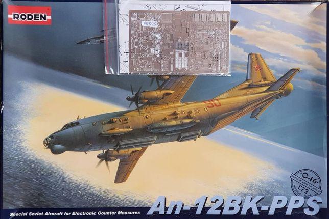 Модель самолёта Ан-12 1/72 Roden + Афтермаркет