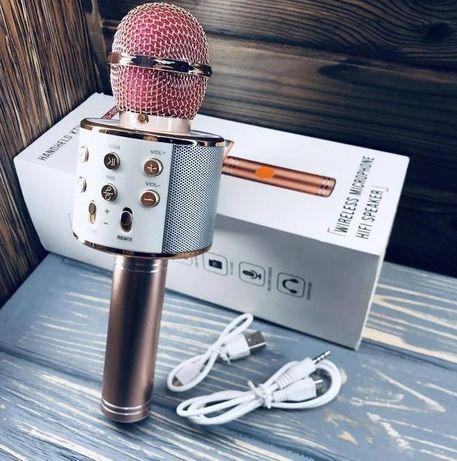 (Новый, Популярный) / Беспроводной / WS858 / микрофон караоке 1800 мАч