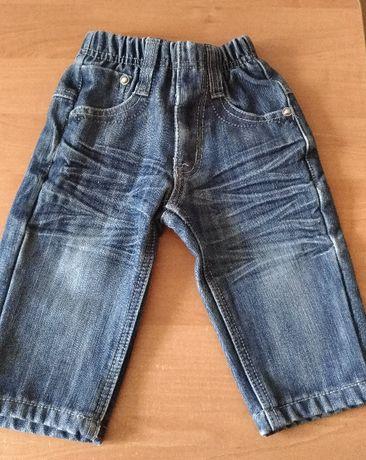 Spodnie,jeansy dla chłopca 9 miesięcy, 80cm