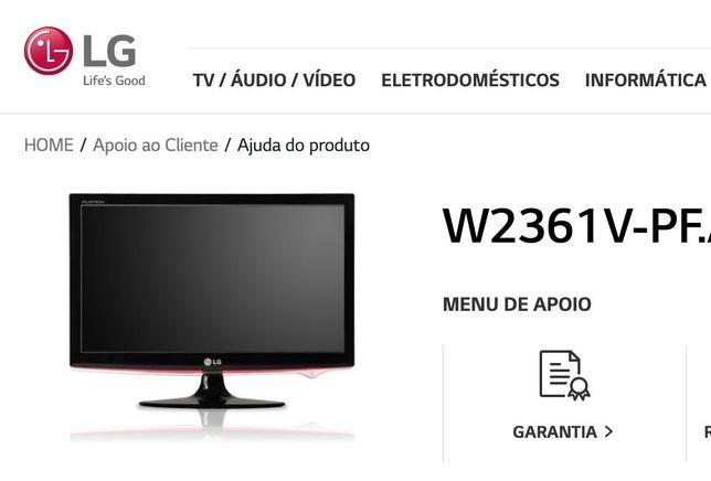 "Monitor 23"" LG Flatron Widescreen LCD W2361V-PF"