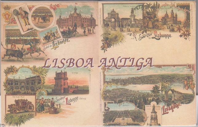 Coleção Postais Virgens Lisboa Antiga e Homenagem a Vasco da Gama