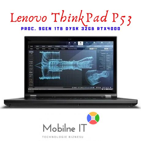 Jedyny!! Laptop Lenovo ThinkPad P53 15.6 FHD i9-9880H 32GB 1TB RTX4000
