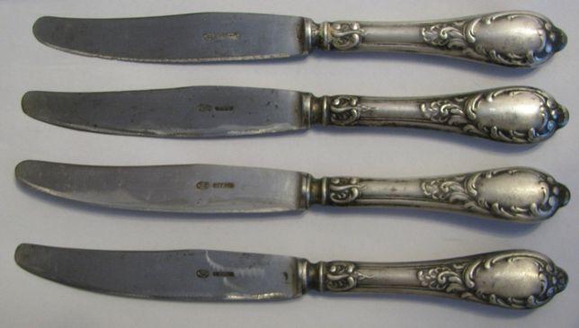 Ножи мельхиоровые столовые СССР МНЦ 5 штук ЗИШ