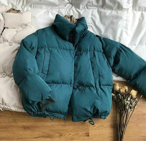 Новая куртка цвета морской волны