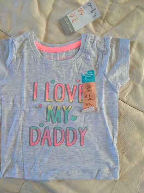 T-shirt'S bebé menina 3/6 meses Novas