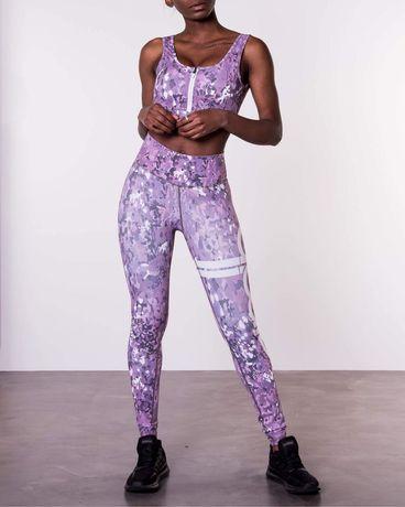 Nowe Modelujące LEGINSY sportowe fitness joga wysoki stan XXS