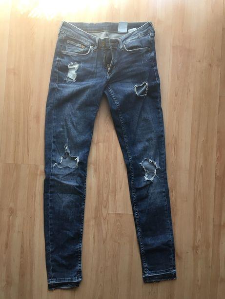 Spodnie z dziurami r.S
