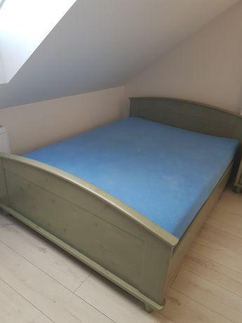 Łóżko z szfką nocną BRW Retro w kolorze zielona sosna