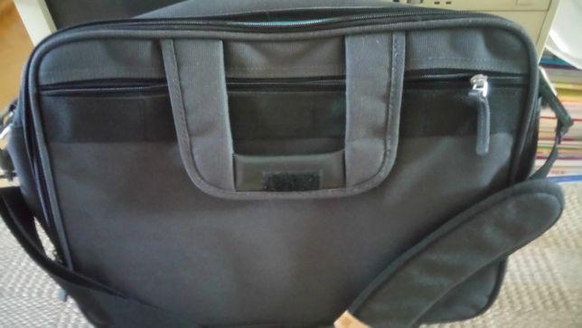 torba na laptop, na ramię, czarna, duża