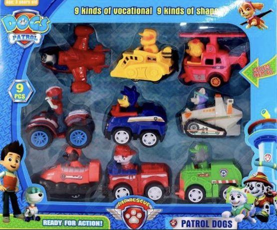 Psi patrol figurki pojazdy autka zabawki zestaw baza